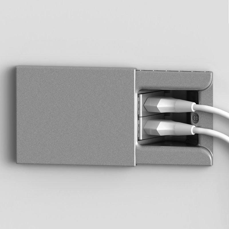 Presa a scomparsa per scatola da incasso a 3 moduli mod - Mobili per elettrodomestici da incasso ...